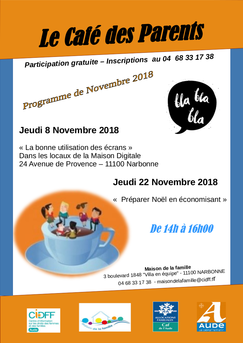 Café des parents - Novembre 2018