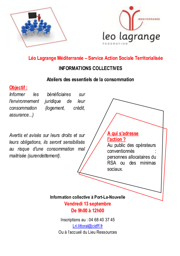 Information collective surendettement - 13/9/2019